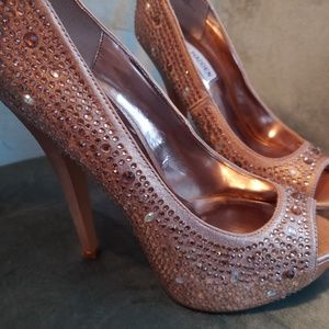 Pink bedazzled Steve Madden heels
